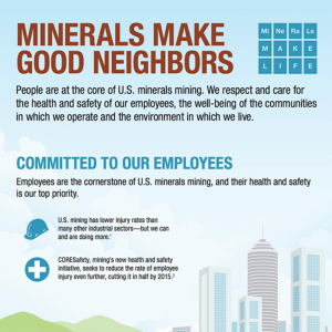 Minerals Make Good Neighbors Infographic