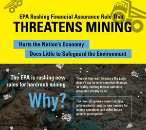 EPA Rushing Financial Assurance Rule That Threatens Mining